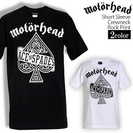 Motorhead Tシャツ モーターヘッド ロックTシャツ バンドTシャツ 半袖 メンズ レディース かっこいい バンT ロックT バンドT ダンス ロック パンク 大きいサイズ 綿 黒 白 ブラック ホワイト M L XL 春 夏 おしゃれ Tシャツ ファッション