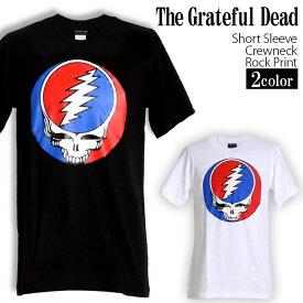 Grateful Dead Tシャツ グレイトフルデッド スカル ロックTシャツ バンドTシャツ 半袖 メンズ レディース かっこいい バンT ロックT バンドT ダンス ロック パンク 大きいサイズ 綿 黒 白 ブラック ホワイト M L XL 春 夏 おしゃれ Tシャツ ファッション
