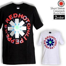 ロックTシャツ 半袖 Red Hot Chili Peppers Tシャツ レッドホットチリペッパーズ バンドTシャツ レッチリ Asterisk メンズ レディース パロディ Tシャツ おもしろ ロゴ 衣装 ダンス ファッション ブラック ホワイト 黒 白 コットン 綿 100% 春夏 夏物 おしゃれ
