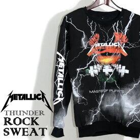 【送料無料】 スウェットトレーナー Metallica パーカー メタリカ プルオーバー 裏起毛 スウェットトレーナー メンズ レディース バンド スウェット 衣装 ロゴT トレーナー ダンス ミュージック ファッション ROCK 秋冬 冬服 コットン 綿 100% ブラック 黒 M-L