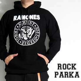 【送料無料】 ロックパーカー Ramones パーカー ラモーンズ プルオーバー 裏起毛 パーカ メンズ レディース バンド スウェット 衣装 ロゴT フード トレーナー ダンス ミュージック ファッション ROCK 秋冬 冬服 コットン 綿 100% ブラック 黒 S-XL