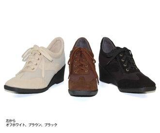CV584 / zippered heel sneakers. Wedge clean, elegant design! fs04gmapap8 10P03Sep16