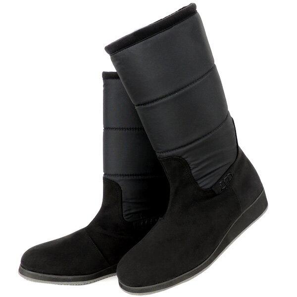 No.374007bl/急な雨も安心の晴雨兼用!冬でも暖か吸湿発熱ブーツ♪(レディース 女性用 ブーツ 靴 おしゃれ 洗える クロール バリエ 歩きやすい 痛くない 疲れにくい 履きやすい 22センチ 23 24 25センチ 黒 ブラック 大人 疲れない