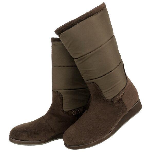 No.374007br/急な雨も安心の晴雨兼用!冬でも暖か吸湿発熱ブーツ♪(レディース 女性用 ブーツ 靴 おしゃれ 洗える クロール バリエ 歩きやすい 痛くない 疲れにくい 履きやすい 22センチ 23 24 25センチ ブラウン 茶 大人 疲れない