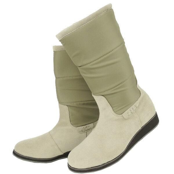 No.374007gbe/急な雨も安心の晴雨兼用!冬でも暖か吸湿発熱ブーツ♪(レディース 女性用 ブーツ 靴 おしゃれ 洗える クロール バリエ 歩きやすい 痛くない 疲れにくい 履きやすい 22センチ 23 24 25センチ ベージュ 大人 疲れない 防寒 寒さ対策