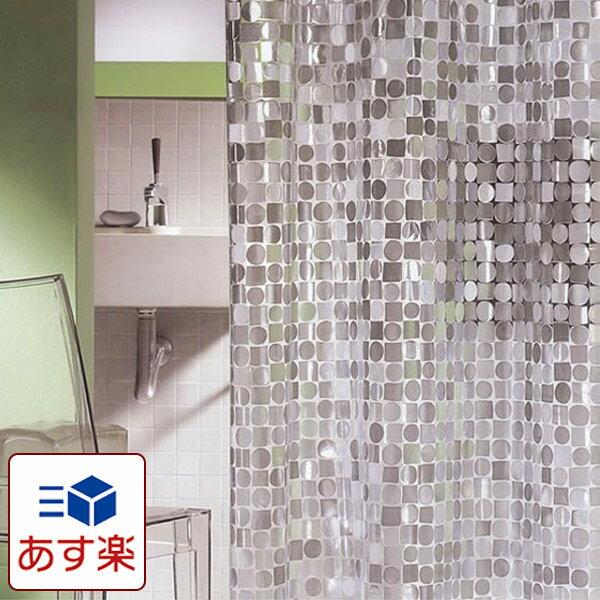 日本製 シャワーカーテン スパークリング 180×120cm 【防水カーテン カビがはえにくい 半透明 おしゃれ オシャレ 間仕切り 水はね 新生活 一人暮らし 女子 女の子 OL 海外生活 お手入れ簡単 ガラス調】【あす楽対応】