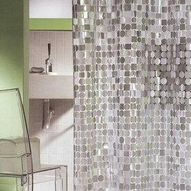 日本製 シャワーカーテン スパークリング 180×120cm 【防水カーテン カビがはえにくい 半透明 おしゃれ オシャレ 間仕切り 水はね 新生活 一人暮らし 女子 女の子 OL 海外生活 お手入れ簡単 ガラス調】【あす楽】