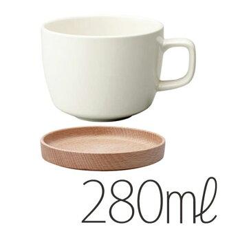 """Cup & Saucer """"KINTO"""" NEIGHBORS (280 ml / white) [217010]"""