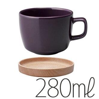 """茶杯&盘子""""kinto""""NEIGHBORS(280ml/紫)"""