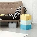 収納ボックス「LEGO・デザインコレクション」ストレージブリック(4)【レゴ おもちゃ箱 収納 スタッキング フタ付き】