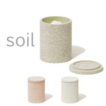 soil(ソイル) コットンスワブコンテナ 珪藻土 綿棒入れ 綿棒ケース 綿棒スタンド コットンボックス 小物入れ 収納 吸水 速乾 吸湿 SOIL 日本製 【ギフト/プレゼントに】