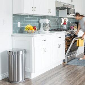 simplehumanシンプルヒューマン「センサーカンセミラウンド45L」ST2009ST2018シルバーホワイトダストボックスゴミ箱モーションセンサー自動開閉衛生的清潔ステンレス