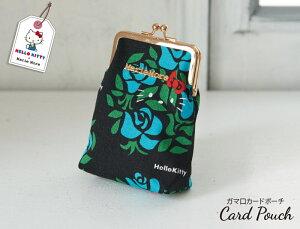 ハローキティ 日本製 がま口カードポーチ メアリーモア 薔薇柄 サンリオ 花柄 タバコケース タバコポーチ ワンタッチ 高級感のある 大人 かわいい 可愛い バラ柄 アイコスケース アイコスポ