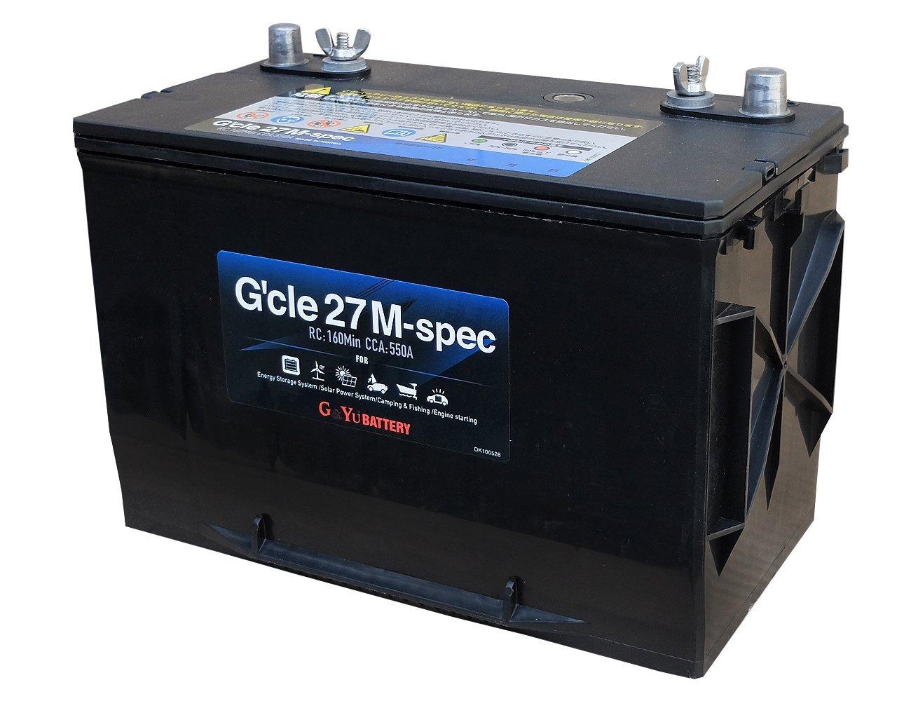 G&Yu[ジーアンドユー] 新ディープサイクルバッテリー G'cle27M-spec(ACデルコ M27MF互換) 高品質・長寿命グレードアップ版