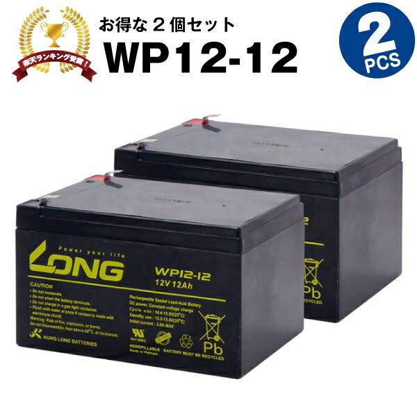 WP12-12【お得!2個セット】(産業用鉛蓄電池)【新品】■■LONG【長寿命・保証書付き】Smart-UPS 1000 など対応【サイクルバッテリー】