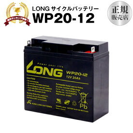 WP20-12(産業用鉛蓄電池)【新品】■■LONG【長寿命・保証書付き】Smart-UPS 1500 など対応【サイクルバッテリー】
