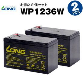 WP1236W【お得!2個セット】(産業用鉛蓄電池)【新品】■■LONG【長寿命・保証書付き】Smart-UPS 750 など対応【サイクルバッテリー】