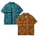 ALLY&DIA アリーアンドダイア SHORT SLEEVE SHIRT アロハシャツ STAIND GLASS ALLOVER S/S SHIRTS AD21SP001 MIXTURE ミクスチャー ロ…