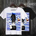NO COMMENT PARIS ノーコメントパリ T-shirt ボーダーセイラーガール半袖Tシャツ T Shirt sailor girl-2 [LTN67.] [JAPAN LIMITED] 201…
