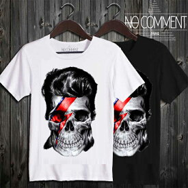 【20倍ポイント お買物マラソン 1202816】 NO COMMENT PARIS ノーコメントパリ T-shirt 半袖Tシャツ T Shirt david bowie-skull UND13 [NCP-16220] 最新 nocomment トレンド TREND nocomment 正規品 オシャレ かっこいい モテる