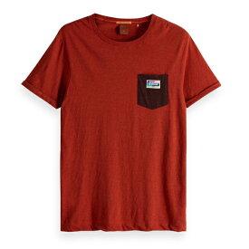 【20倍 楽天イーグルス感謝祭 1429127】 SCOTCH & SODA スコッチアンドソーダ S/S POCKET T-shirt ネップド ポケット 半袖Tシャツ Nepped T-Shirt [149046] [292-74452] トップス TOPS ボーダー アメカジ カジュアル 正規通販 オシャレ かっこいい モテる