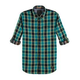 【半額 50%OFF 楽天スーパーSALE 2倍ポイント】 SCOTCH & SODA スコッチアンドソーダ L/S SHIRT ロールスリーブレギュラーフィットシャツ Rolled-Up Sleeve Regular Fit Shirt [148883] [292-71453] トップス アメカジ カジュアル 正規通販 オシャレ かっこいい モテる