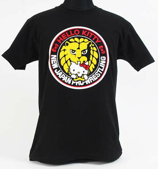 헬로 키티×NJPW 코라보 T셔츠 「HELLO KITTY meets Lion-mark」
