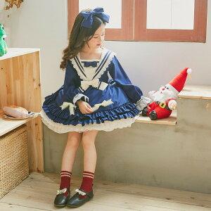 子供用 キッズ メイド ロリータ ポリス 園児 海軍 セーラー服 コスチューム 衣装 コスプレ 子供 ワンピース なりきり こども コス ハロウィン コスプレ衣装 スカート 制服 仮装 可愛い 女の子