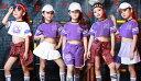 チアリーダー ヒップホップ ダンス衣装 コスチューム | キッズ チアガール 衣装 子供 チアダンス 子供用 こども ガー…