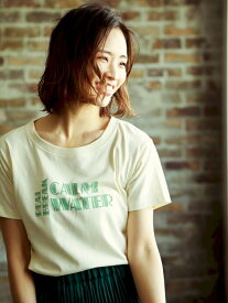 【SALE/70%OFF】(W)アソートVTロゴT BAYFLOW ベイフロー カットソー Tシャツ ホワイト グリーン ブラウン ブルー【RBA_E】[Rakuten Fashion]