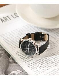 (W)シンプル2ベルトウォッチ BAYFLOW ベイフロー ファッショングッズ 腕時計 ブラック ホワイト【送料無料】[Rakuten Fashion]