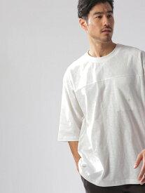 【SALE/54%OFF】(M)ワンマイルフットボールT5S BAYFLOW ベイフロー カットソー Tシャツ ホワイト ネイビー パープル【RBA_E】[Rakuten Fashion]