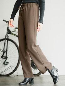 【SALE/61%OFF】(W)ストレートドロストPT BAYFLOW ベイフロー パンツ/ジーンズ フルレングス カーキ パープル ブラック ベージュ【RBA_E】[Rakuten Fashion]