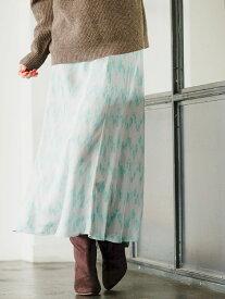 【SALE/70%OFF】(W)ソフトマーメイドガラSK BAYFLOW ベイフロー スカート ロングスカート グリーン パープル【RBA_E】[Rakuten Fashion]
