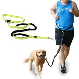 犬用 伸縮リード ウエストベルト ランニング ジョギング ウォーキング ハイキング 腰ベルト 引きひも 反射素材