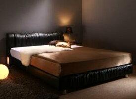 照明付き コンセント付き モダンデザイン ベッド Vesal ヴェサール プレミアムボンネルコイルマットレス付き ダブルサイズ