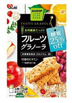 아사히그르프 식품 바란스압후르트그라노라 당질 25%오프 3장입×5봉