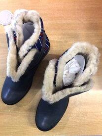 ツモリチサト TSUMORI CHISATO ブーツ メンズ - グレー系 × 青系 JPN:2 ムートンストライプブーツ【中古】【ブランド古着バズストア】【190919】