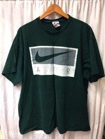 ナイキ NIKE クルーネックTシャツ メンズ - 緑系 import:L 90S ビッグロゴTシャツ【中古】【ブランド古着バズストアBAZZSTORE】【280120】