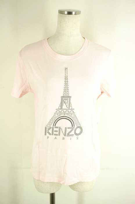 ケンゾー KENZO UネックTシャツ サイズL レディース プリント【中古】【ブランド古着バズストア】【300518】