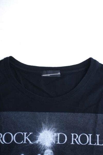ラッドミュージシャンLADMUSICIANクルーネックTシャツレディース-黒系フォトプリントTシャツ【中古】【ブランド古着バズストア】【150919】