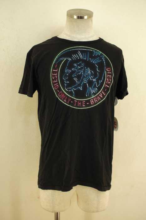 ディーゼル DIESEL クルーネックTシャツ メンズ - 黒系 import:M passion プリントTシャツ【中古】【ブランド古着バズストア】【200618】