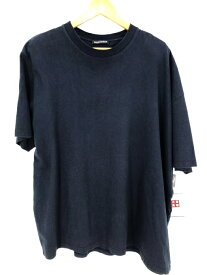 BALENCIAGA バレンシアガ クルーネックTシャツ メンズ 2019年新作 青系 import:XS 日本サイズ:XS-S 相当 オーバーサイズ ロゴパッチ【中古】【ブランド古着バズストアBAZZSTORE】【160820】