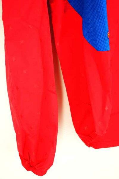 アディダスadidasプルオーバーパーカーレディース-赤系×黄系JPN:Sadi-TRICKStyleピステトップ【中古】【ブランド古着バズストア】【120519】