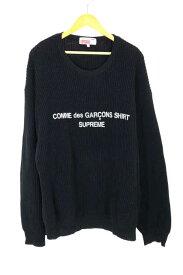 シュプリーム×コムデギャルソンシャツ Supreme × COMME des GARCONS SHIRT ニット・セーター メンズ 2018年秋冬新作 黒系 X SWEATER【中古】【ブランド古着バズストアBAZZSTORE】【211219】