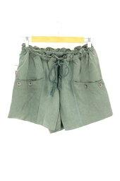 美國碎布海AMERICAN RAG CIE E G褲子尺寸書寫方式女士E G短褲[中古][名牌舊衣服嗡嗡叫商店][160518]