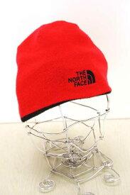 THE NORTH FACE ザノースフェイス ニット帽子 メンズ - 黒系 × 赤系 ニット帽【中古】【ブランド古着バズストアBAZZSTORE】【040420】