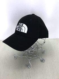 THE NORTH FACE ザノースフェイス キャップ帽子 メンズ - 黒系 × 白系 FREE TNF LOGO CAP【中古】【ブランド古着バズストアBAZZSTORE】【030820】