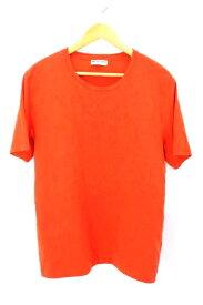 BALENCIAGA バレンシアガ クルーネックTシャツ メンズ 2014年春夏新作 赤系 import:XL 凹凸 デザインシャツ【中古】【ブランド古着バズストアBAZZSTORE】【120720】