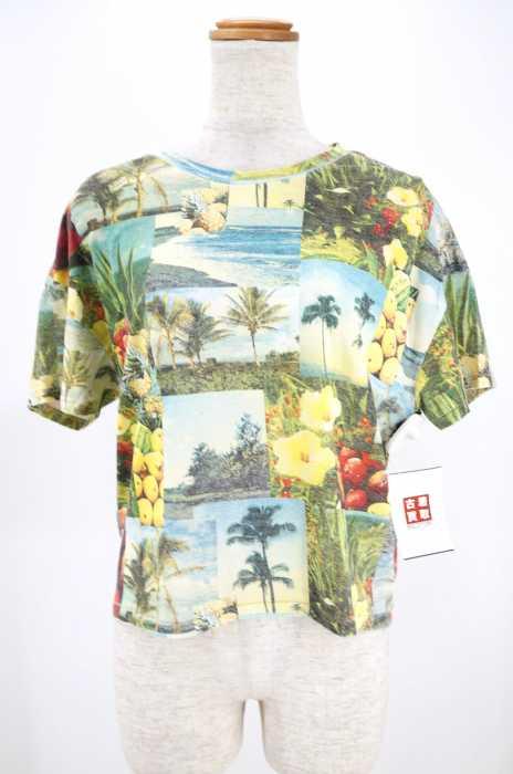 アナザーエディション Another Edition クルーネックTシャツ サイズFREE レディース AE ALOHA PHOTO PRT T【中古】【ブランド古着バズストア】【300518】
